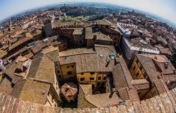 Siena, Tuscan, Italy. Panoramic view over the rooftops of Siena Stock Photos