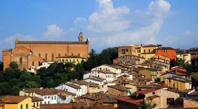 Siena, Tuscany. The cityscape of Siena, Tuscany royalty free stock photos