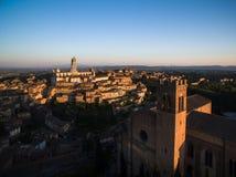 Siena, Tuscany, Italy - aerial view Royalty Free Stock Photo