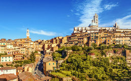 Siena, Tuscany, Italy. Beautiful view of the historic city of Siena. Tuscany, Italy royalty free stock image