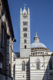 Siena tuscany italy europe bell tower and dome of the cathedral Stock Photography