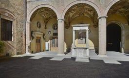 Siena tuscany italy europe courtyard of chigi-saracini palace Stock Images