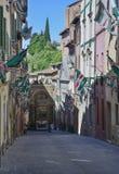 Siena Tuscany Italy Europe decked z flaga contrade Zdjęcia Royalty Free