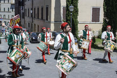 Siena tuscany italy europe drummers with typical clothes Royalty Free Stock Images