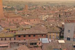 Siena, Tuscany, Italy. The medieval town from above. Stock Photo