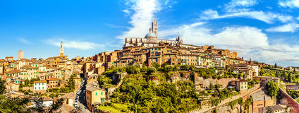 Siena, Tuscany, Italy. Panoramic view of the historic city of Siena. Tuscany, Italy stock images