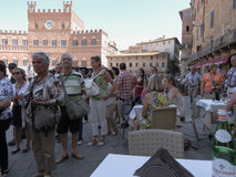 Siena, Tuscany, Italy with tourists Stock Images