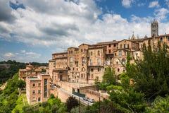 Siena, Tuscany, Italy. View of theySiena, Tuscany, Italy stock images