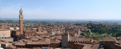 Siena_tuscany_panorama Fotos de Stock Royalty Free