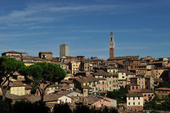 Siena Tuscany panorama Arkivfoto