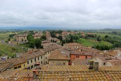Siena vanaf de bovenkant stock foto's