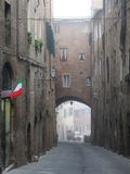 Siena, view of the city centre in a foggy day Royalty Free Stock Photography