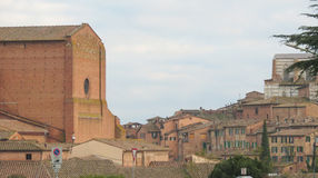 Siena, view of the city centre Royalty Free Stock Photos