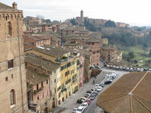 Siena, view of the city centre Stock Image