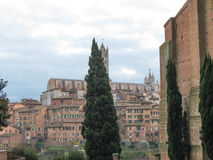 Siena, view of the city centre Stock Photos