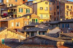 Siena. View of the old city district. Stock Images