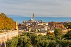 Siena. View of the old city district. Royalty Free Stock Photography