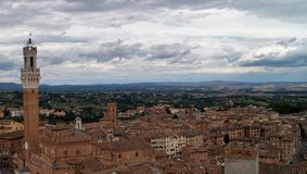 Siena. View on Siena roofs and Torre del Mangia Royalty Free Stock Images