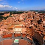 Siena, visión aérea imagenes de archivo