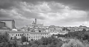 Siena, visión panorámica Foto blanco y negro de Pekín, China Foto de archivo