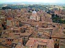 Siena vom clocktower Stockbilder