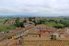 Siena von der Spitze stockfotos