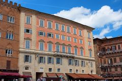 SIENA, WŁOCHY †'MAJ 25, 2017: Piazza Del Campo Fotografia Royalty Free