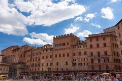 SIENA, WŁOCHY †'MAJ 25, 2017: Piazza Del Campo Zdjęcia Stock