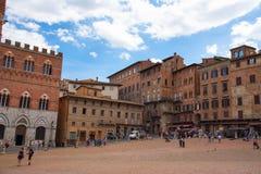 SIENA, WŁOCHY †'MAJ 25, 2017: Piazza Del Campo Zdjęcie Royalty Free