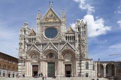 SIENA WŁOCHY, MAJ, - 06, 2014: Fotografia Siena katedra Zdjęcie Stock