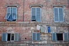 Siena Windows Royalty Free Stock Photos
