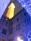 Siena, yarda interna del ayuntamiento Imágenes de archivo libres de regalías