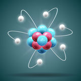 Sience atom. Vector Illustration Stock Photography