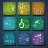 Sience symboler. vektor illustrationer