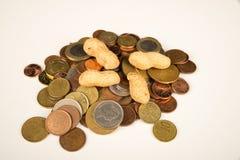 Siendo cacahuetes pagados Fotografía de archivo libre de regalías