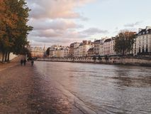 The Siene. Fall in Paris, a view from the Seine Royalty Free Stock Photography