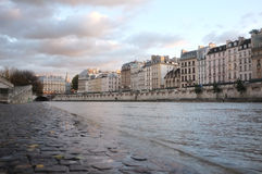 The Siene. Fall in Paris, a view from the Seine Stock Photos