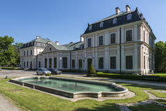 Sieniawa slott i Polen Arkivfoto