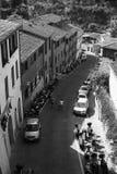 sienna Een typische Italiaanse Europese straat in de middag Hoogste mening royalty-vrije stock afbeeldingen