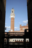 Sienna. Entrance to il campo. Piazza del campo. Royalty Free Stock Photo