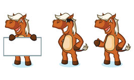 Sienna Horse Mascot felice Fotografia Stock