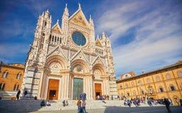 Sienna Italy Cathedral no centro da cidade Fotos de Stock