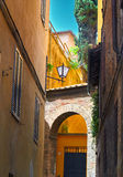 Sienna Italy Street Detail Royalty Free Stock Photo