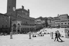 Siena old city square Piazza del Campo Royalty Free Stock Photos