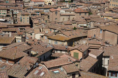 Sienna rooftops Stock Photos