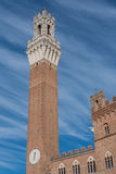 Sienna Tower and castle wall, Sienna, Italy Stock Photos