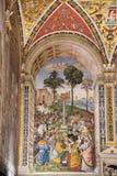 SIENNA, TUSCANY/ITALY - 18 DE MAIO: Opinião interior Sienna Cathed Fotos de Stock