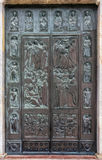 SIENNA, TUSCANY/ITALY - MAY 18 : Door to Sienna Cathedral in Sie Stock Photography