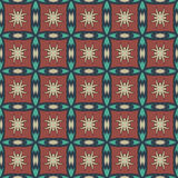 Sienna universal vector seamless patterns, tiling. Geometric ornaments. Royalty Free Stock Images