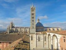 Sienne, centre de la ville Photographie stock